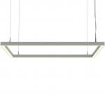 Светильник светодиодный подвесной TECHNOLED Kvadro M 900 4K W, 120Вт, 11500Лм, 4000К, 900x900, 55x55, белый, подвес 3000мм