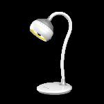 Светильник светодиодный настольный Artstyle 6983850556184 TL-326WS SFERA, 7Вт,  3500К-4200К-5500К (3 режима света), бесступенчатое изменение яркости, гибкая стойка, сенсорное управление, белый-серебристый
