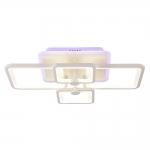 Люстра светодиодная Profit Light 8783/4 WHT (BL+YL), 112W+28W, 3000-6500K, 9300lm, 600*400*150 мм, белый