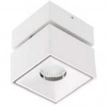 Светильник светодиодный точечный GTV LD-BNC8WKB-NB LED BIANCO, 8Вт, 4000К, 680Лм, 36°, Ra80/1В, IP20, IK06, регулировка наклона, белый