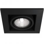 Светильник карданный встраиваемый Maytoni DL008-2-01-B METAL MODERN, 1xGU10 ES111, металл, черное кольцо, черный корпус