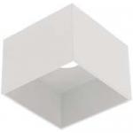 Светильник накладной потолочный GTV OS-SAKES111KW-10 SAKURA, 1xGU10 ES111, IP20, квадратный, белый корпус из алюминия