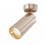Светильник точечный накладной Maytoni C017CW-01RG FOCUS, 50Вт, 1xGU10, IP20, регулировка поворота в 180°, регулировка наклона в 90°, розовое золото