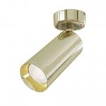Светильник точечный накладной Maytoni C017CW-01G FOCUS, 50Вт, 1xGU10, IP20, регулировка поворота в 180°, регулировка наклона в 90°, золото
