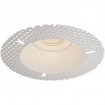Светильник встраиваемый неповоротный Maytoni DL042-01W SPODEK, 1xGU10 MR16, IP20, сталь, безрамочный, белый