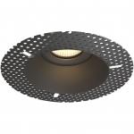 Светильник встраиваемый неповоротный Maytoni DL042-01W SPODEK, 1xGU10 MR16, IP20, сталь, безрамочный, черный