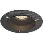 Светильник встраиваемый неповоротный Maytoni DL043-01B HOOP, 1xGU10 MR16, IP20, сталь, безрамочный, черный