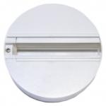 Переходник трехфазный для монтажа трековых светильников Gracion Round base White 3 circuit, белый корпус