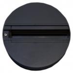Переходник трехфазный для монтажа трековых светильников Gracion Round base Black 3 circuit, черный корпус