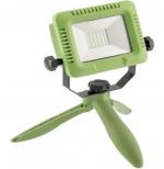Прожектор светодиодный переносной с аккумулятором GTV LD-ALCX10W-64 ALLEDO, 10W, 800lm, 5V, PF>0,5, RA>80, IP54, IK07, 120°, 6400K, USB зарядка 1м, Li-ion 4000mAh 3.7V, на подставке, зеленый корпус из поликарбоната, рассеиватель из стекла