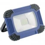 Прожектор светодиодный переносной с аккумулятором GTV LD-OXCX10W-64 ONYX, 10W, 800lm, 5V, PF>0,5, RA>80, IP54, IK07, 120°, 6400K, USB зарядка 1м, Li-ion 4400mAh 3.7V, синий корпус из поликарбоната, рассеиватель из стекла