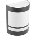 Светильник накладной настенный уличный GTV OS-ESOE2711-20 ESO, 1xE27, IP54, AC220-240V, 50/60Hz, с набором из цифр и букв, черный корпус из стали и поликарбоната, матовый рассеиватель