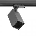 Светильник трековый трехфазный GTV XLD-LMAGU10KC-NB LIMA, 1xGU10 MR16, AC220-240V, 50/60Hz, IP20, IK08, квадратный плафон, черный корпус из алюминия