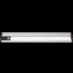 Светильник светодиодный накладной линейный многофункциональный сенсорный с датчиком движения Gauss CL006, 2.5W, 100lm, 4000K, аккумулятор 1800mAh, 300х50х22mm, 1/6/36, серебристый корпус из пластика и алюминия
