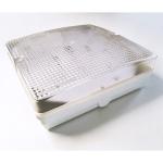 Светильник Sylvania 0039940 GUIDE BULKHEAD SQUARE S260W 128TC-DD EB CL, прозрачный рассеиватель из поликарбоната, белый корпус из поликарбоната, IP65