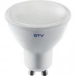 Лампа светодиодная GTV LD-PC6010-30-E GU10, 6W, 440лм, AC175-250V, 50/60 Hz, PF>0,5, RA>80, 120°, 3000K, 52 mA