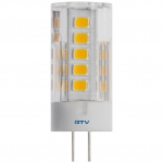 Лампа светодиодная GTV LD-G4P35W-40-E, G4, SMD2835, 4000K, 3,5W, 12V DC, 360°, 320lm