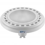 Лампа светодиодная GTV LD-ES11115-30, ES111, 12W, 12XPOWER LED, 3000K, GU10, 120°, 230V, 850 lm, молочное стекло, белый
