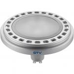 Лампа светодиодная GTV LD-ES11175-40, ES111, 12W, 12XPOWER LED, 4000K, GU10, 120°, 230V, 850 lm, молочное стекло, серый