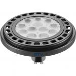 Лампа светодиодная GTV LD-ES11100-30, ES111, 12W, 12XPOWER LED, 3000K, GU10, 45°, 230V, 950 lm, прозрачное стекло, чёрный