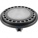 Лампа светодиодная GTV LD-ES11101-40, ES111, 12W, 12XPOWER LED, 4000K, GU10, 120°, 230V, 850 lm, молочное стекло, чёрный