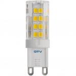Лампа светодиодная GTV LD-G9P35W-30-E, G9, SMD 2835, 3000K, 3,5W, AC220-240V, 360°, 320lm, 38mA
