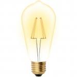 Лампа светодиодная Uniel UL-00002360 LED-ST64-5W/GOLDEN/E27 GLV22GO, vintage, форма «конус», золотистая колба