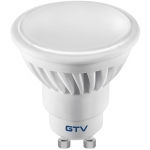 Лампа светодиодная GTV LD-SM1210-10, SMD2835, 3000K, GU10, 10W, 220-240V, 120°, 720lm