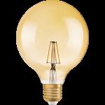Лампа светодиодная OSRAM 4058075809406 LED STAR VINTAGE 1906 LED Globe 7,0W 230V E27 824, шарик, теплый свет