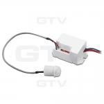 Датчик движения GTV CR-CR7000-00, CR-7, MAX 800W, 360град, радиус 6м ± 1,8-2,5м, IP20