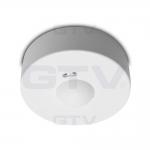 Датчик движения накладной микроволновый GTV AE-CM3000-00 CM-3, max.1200W, IP20,AC220-240V, 50-60Hz, угол действия 360°, R 1-8m, работает с LED, белый корпус