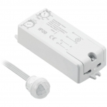 Датчик движения GTV AE-WBEZDPIR-10 PIR, макс. 250Вт, 360°, макс. 2м, IP20, белый