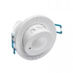 Датчик движения микроволновый GTV AE-CM1500-00 CR-15, max.1200W / max.300W (LED), IP20, AC220-240V, 50-60Hz, угол действия 360°, радиус действия 8м, работает с LED, белый корпус